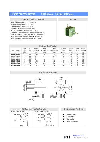 H351(1.8degree)35mm-2/4 phase