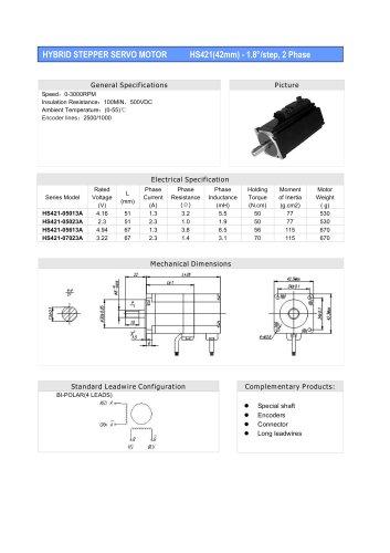 HS421(1.8degree )42mm-2 Phase