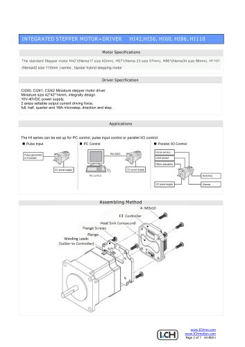 Integral Stepper Motor HI Series
