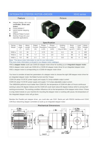 Integral Stepper Motor HI42