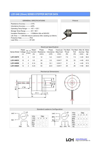 Linear Stepper L251-040(25mm)