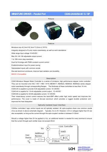 Parallel Port Stepper Driver CI240