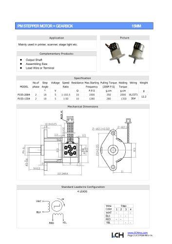 Permanent Stepper Motor Gearbox 15mm