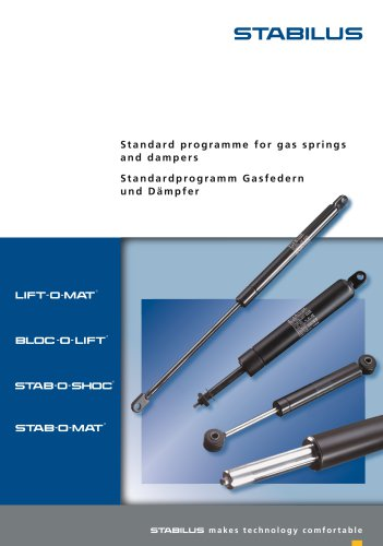 St andar d pro gramme for ga s spring s and dampers