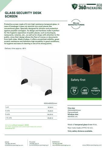 GLASS SECURITY DESK SCREEN