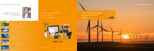 Innovative technologies and products for the energy industry