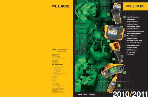 Test Tools Catalog 2010-2011