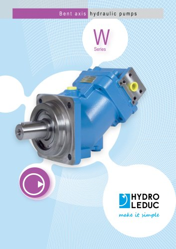 Bent axis hydraulic pump | W series