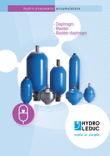 Hydropneumatic accumulators