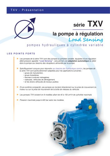 Variable displacement pump TXV (SAE version)
