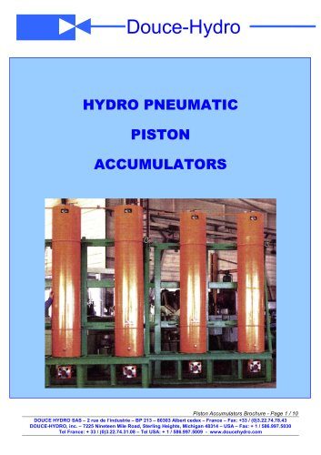 Piston Accumulators