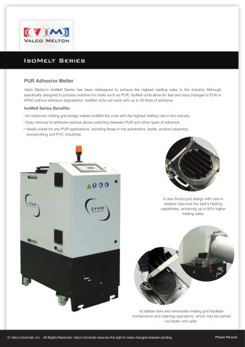 Isomelt PUR Adhesive Melter