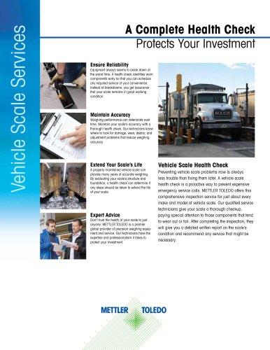 Vehicle Scale Health Check Brochure