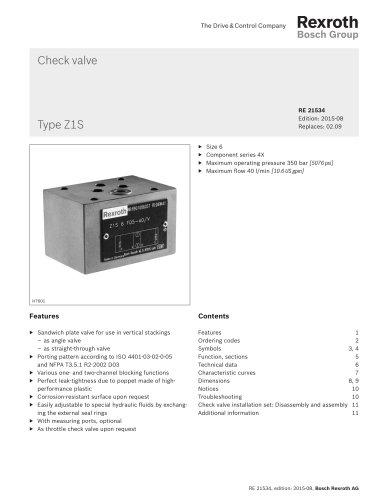 Check valve  Type Z1S