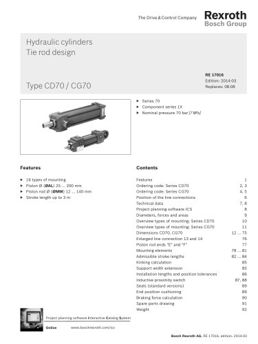 Hydraulic cylinders Tie rod design